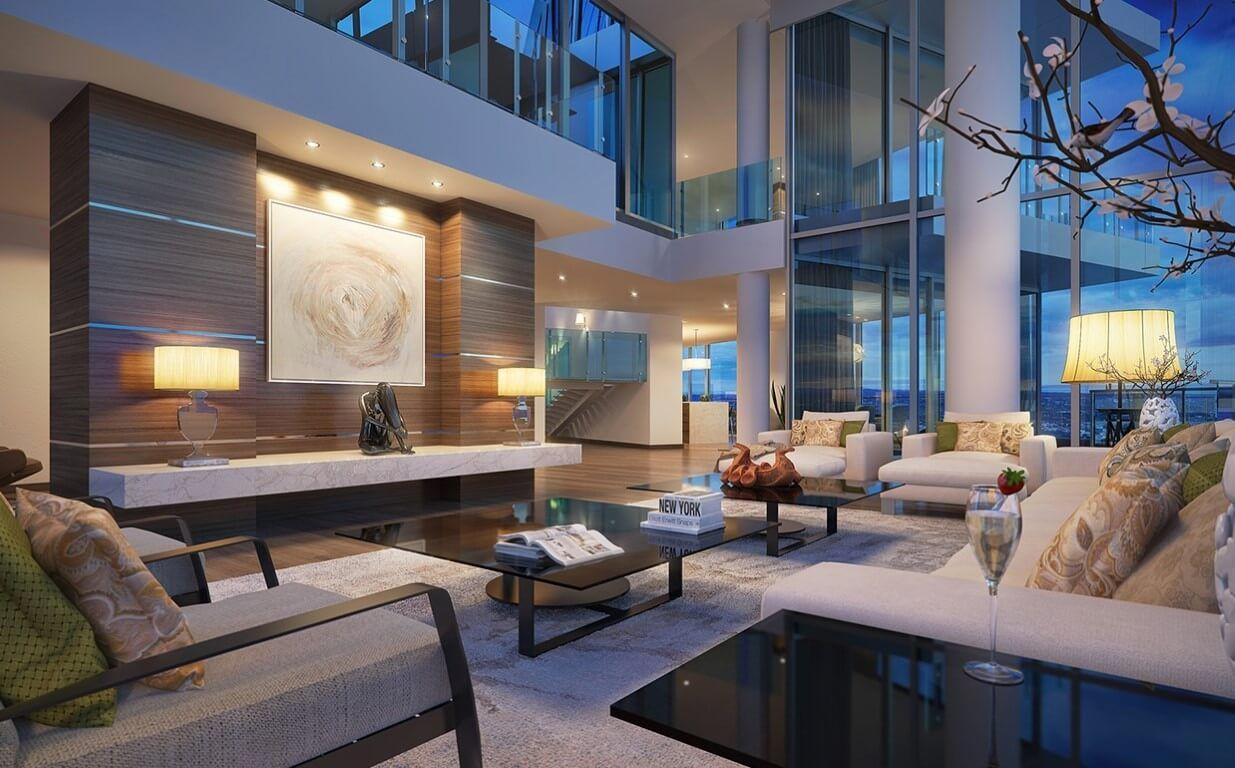 Schöne Wohnzimmer Für Ein Design Liebevolles Leben Wohnzimmerdesignideen Wohnzimmermodern Wohnidee Vaulted Ceiling Living Room House Interior House Design