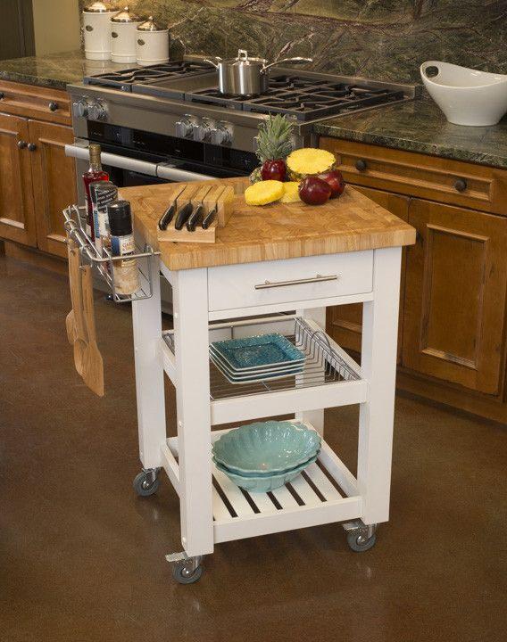 Elegant Chris U0026 Chris Pro Chef Kitchen Cart Work Station JET3187   White | Kitchen  Carts, Work Stations And Kitchens