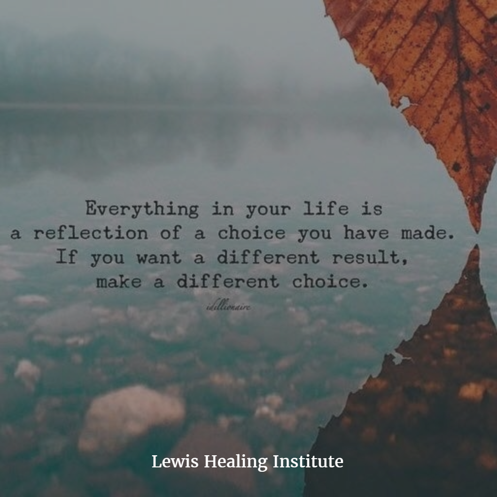 Everything in your life is a reflection  Lewis Healing Institute
