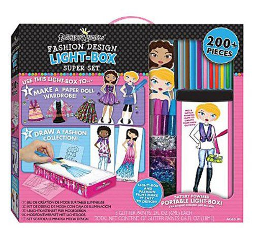Travel Lightbox Fashion Design Super Set Draw And Create Your Own Fashion Collections With This Great Light Box Super Set Set Includes Light Bo Fashion Design