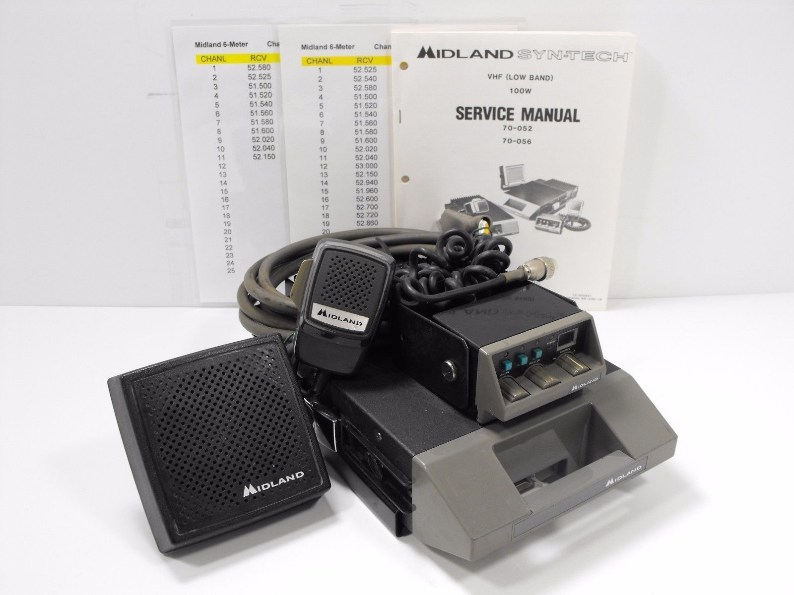 Midland 70-056C 6 Meter Mobile Transceiver w/ Remote Head