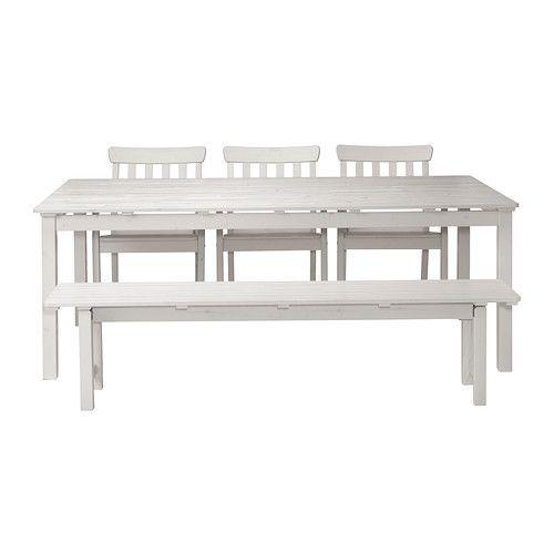 IKEA ÄNGSÖ table+3 chrs w armr+ bench, outdoor   home   Pinterest ...
