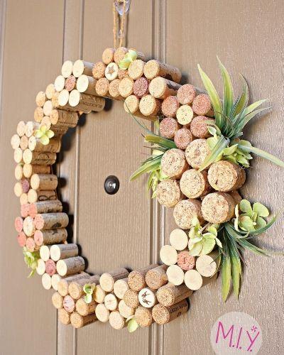 Photo of Summer decor: wine cork flower wreath – do it with Melissa