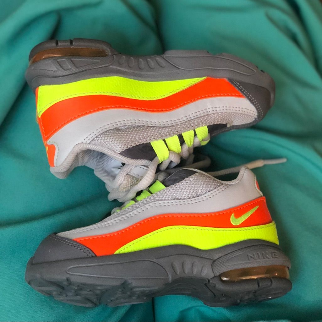 new concept 484a7 5c573 nike Shoes | Toddler Air Max '95 | Color: Green/Orange ...