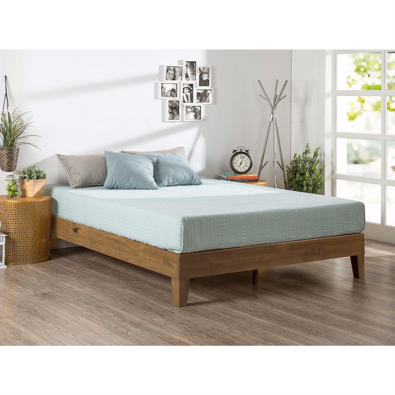 Full Size Solid Wood Low Pro Platform Bed Frame In