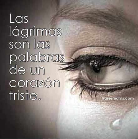 Solo Imágenes De Tristeza Y Lagrimas Con Frases De Amor Tristeza
