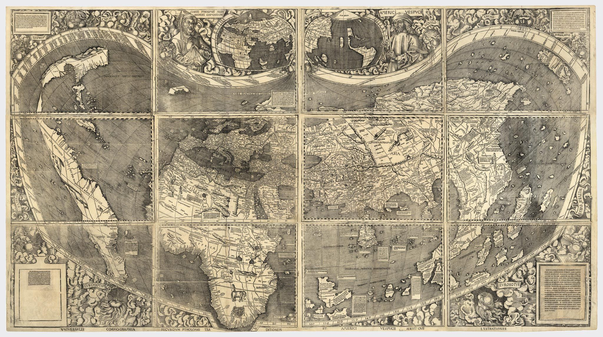 Drag to resize or shiftdrag to move maps and trails pinterest wall map of the world by german cartographer martin waldseemller originally published in april it is known as the first map to use the name america gumiabroncs Images