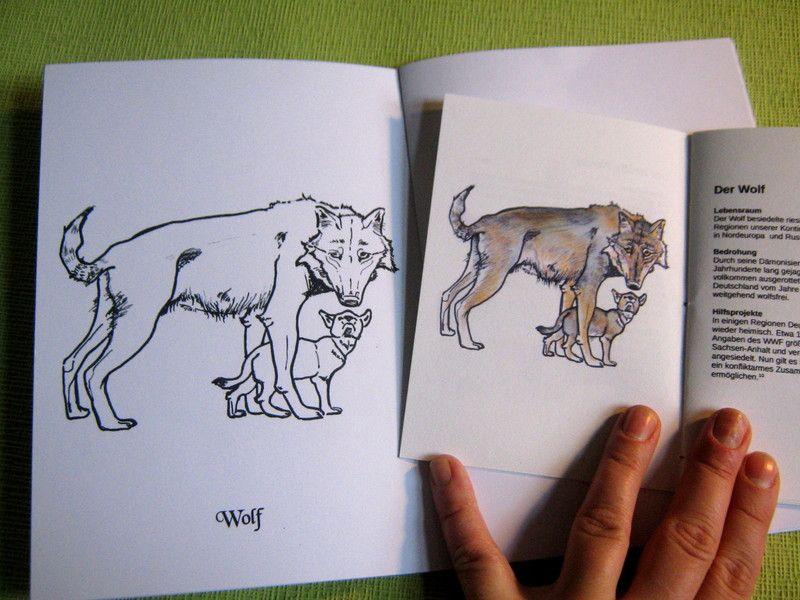 ausmalbuch wolf  wenn du mal buch bedrohte tierarten tiere