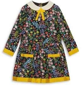 9795ff80dce6 Gucci Little Girl's& Girl's Floral-Print Silk A-Line Dress ...