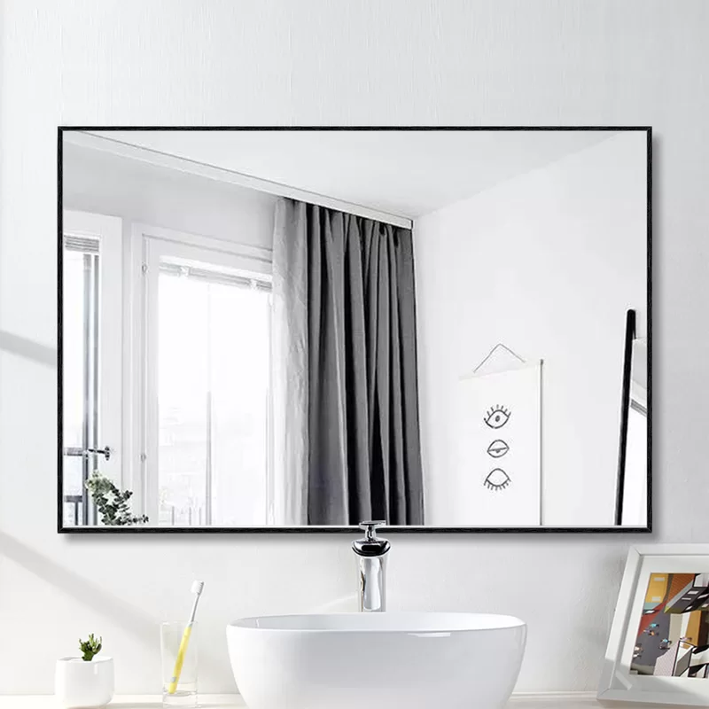 Eline Rectangular Thin Modern And Contemporary Bathroom Mirror