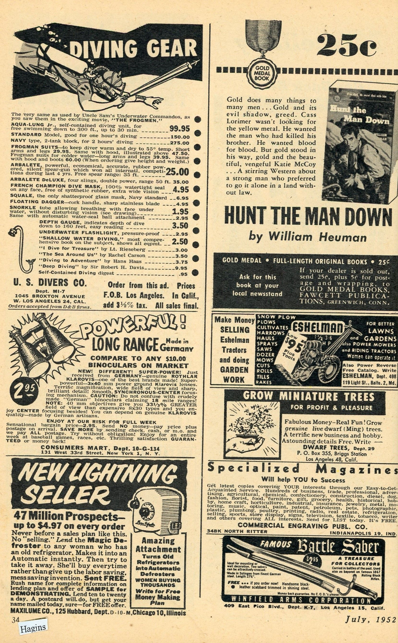 1952 ads. something for everyone. Hagins collection.