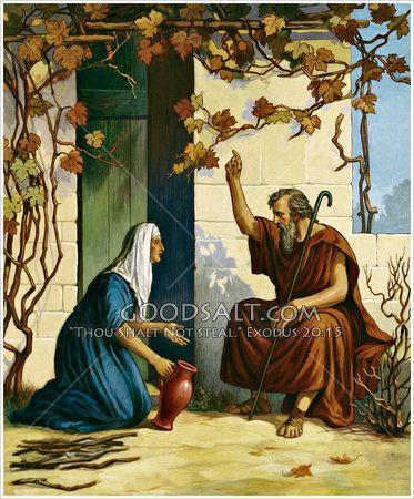 Elijah and a Widow of Zarephath | Biblia imagen, Elías, Ilustraciones  biblicas