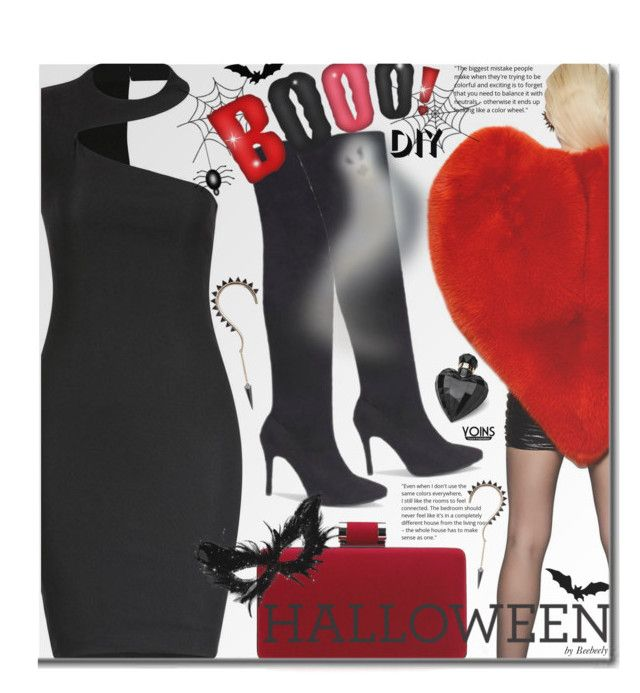 """""""Yoins DIY Halloween Costume"""" by beebeely-look ❤ liked on Polyvore featuring Yves Saint Laurent, Lipsy, Halloween, LBD, halloweencostume, DIYHalloween and yoins"""
