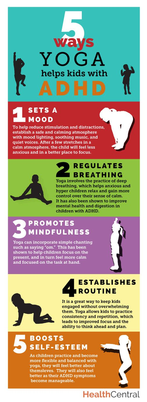 Yoga Helps Children With Adhd >> 5 Ways Yoga Helps Kids With Adhd Infographic Spd Adhd Kids