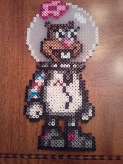 Sandy Cheeks perler beads by fefifonom