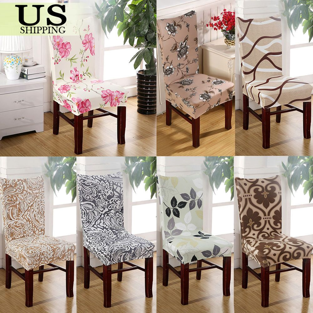 Stretch Spandex Chair Cover Dining Room Wedding Party Décor Classy Dining Room Covers Design Ideas
