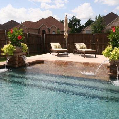 Beach entry pools pools pinterest beach entry pool beach and backyard Beach entry swimming pool designs