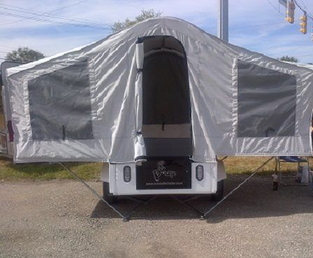 At Just 250lbs This Tiny Pop Up Trailer Can Even Be Towed By