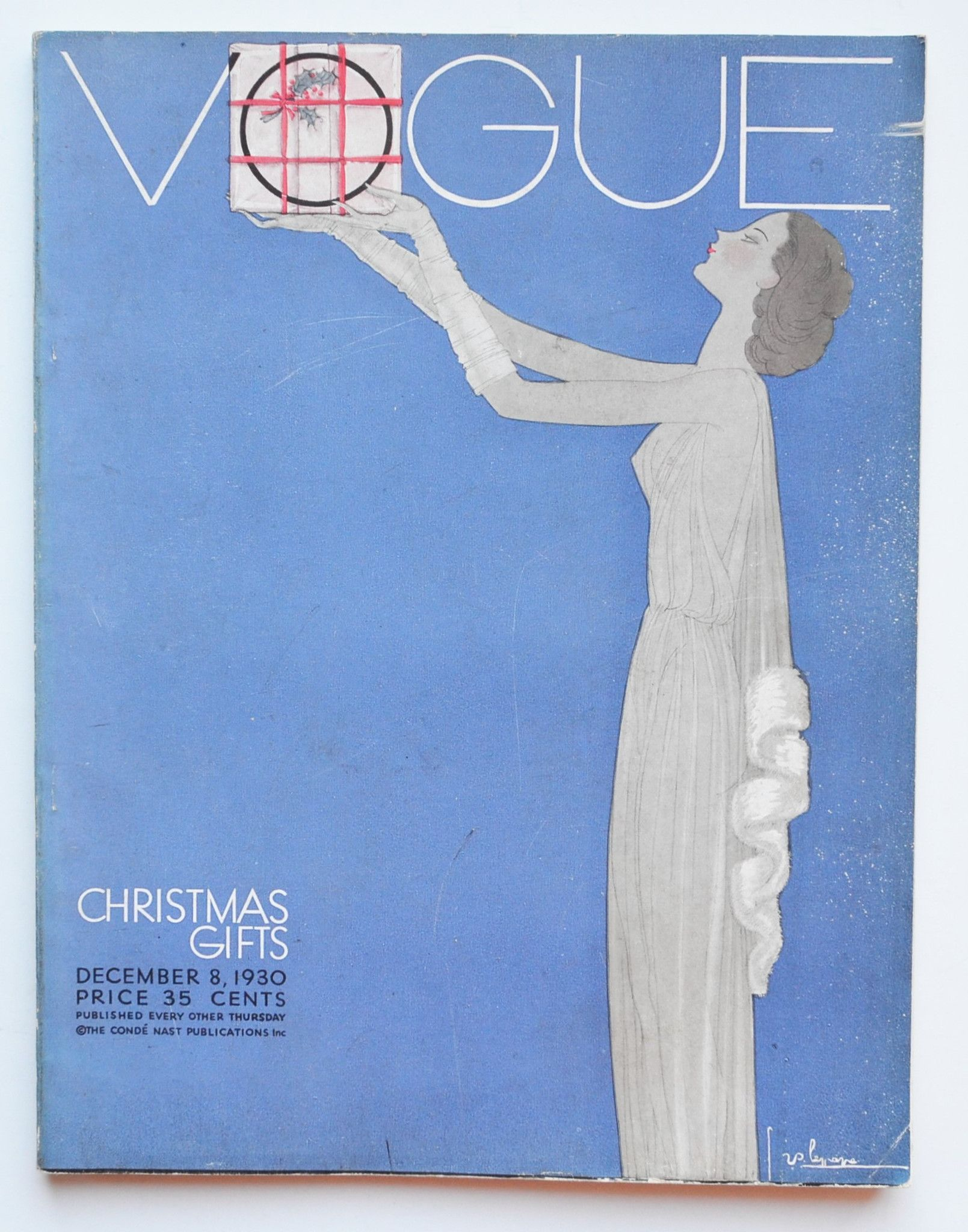 Vogue Christmas Gifts December 8 1930 Cover Design By Georges Lepape Cover Design Vogue Christmas Gifts