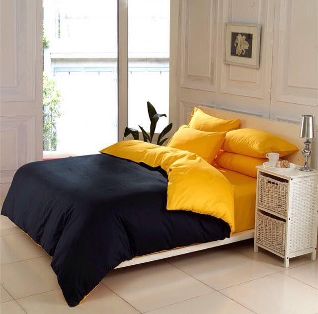 Yellow Black Plain Bed Set Http Www Fierceheelsemporium Com Au