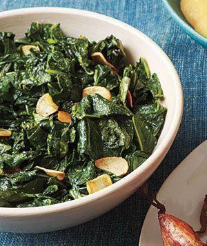 Sautéed Collard Greens & Garlic | Real Simple. #collardgreens #vegetarian