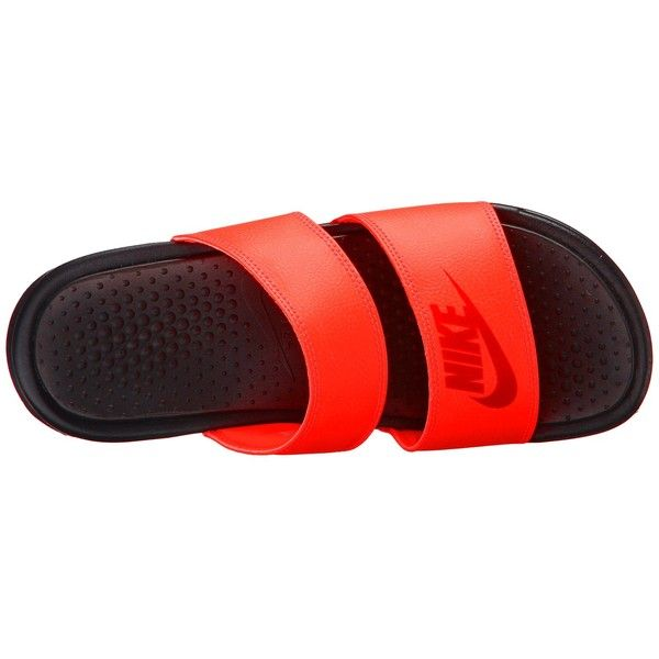 a0b937acb Nike Benassi Duo Ultra Slide (Bright Crimson Light Crimson Black)... ( 30)  ❤ liked on Polyvore featuring shoes