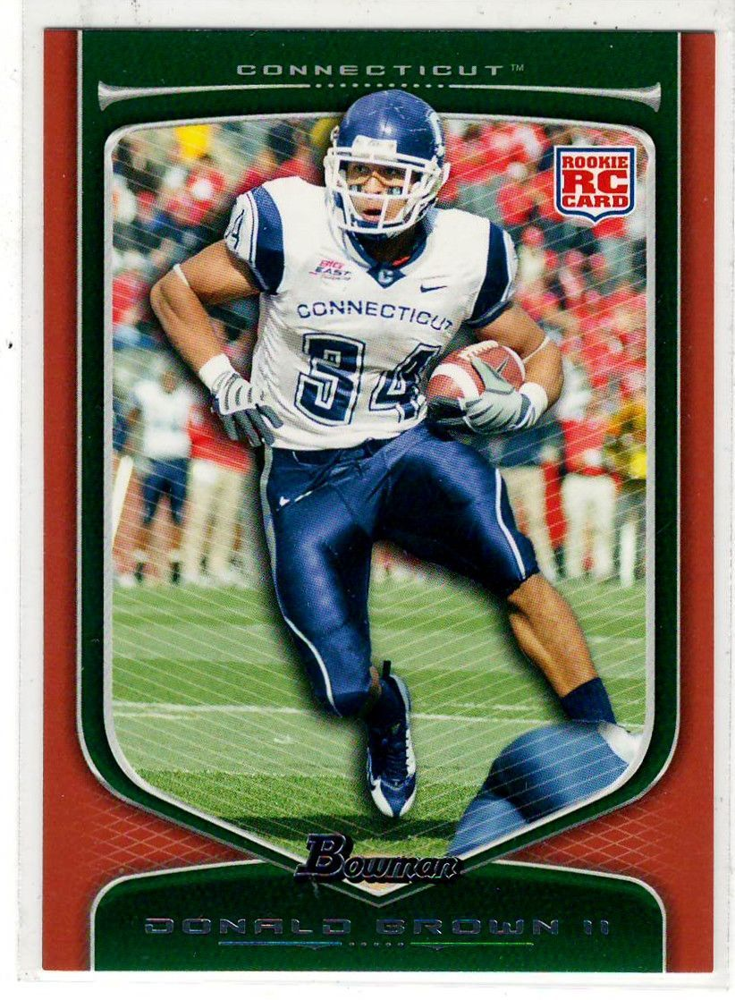 Football Trading Cards 2009 Bowman (Orange Parallel) RC Donald Brown II