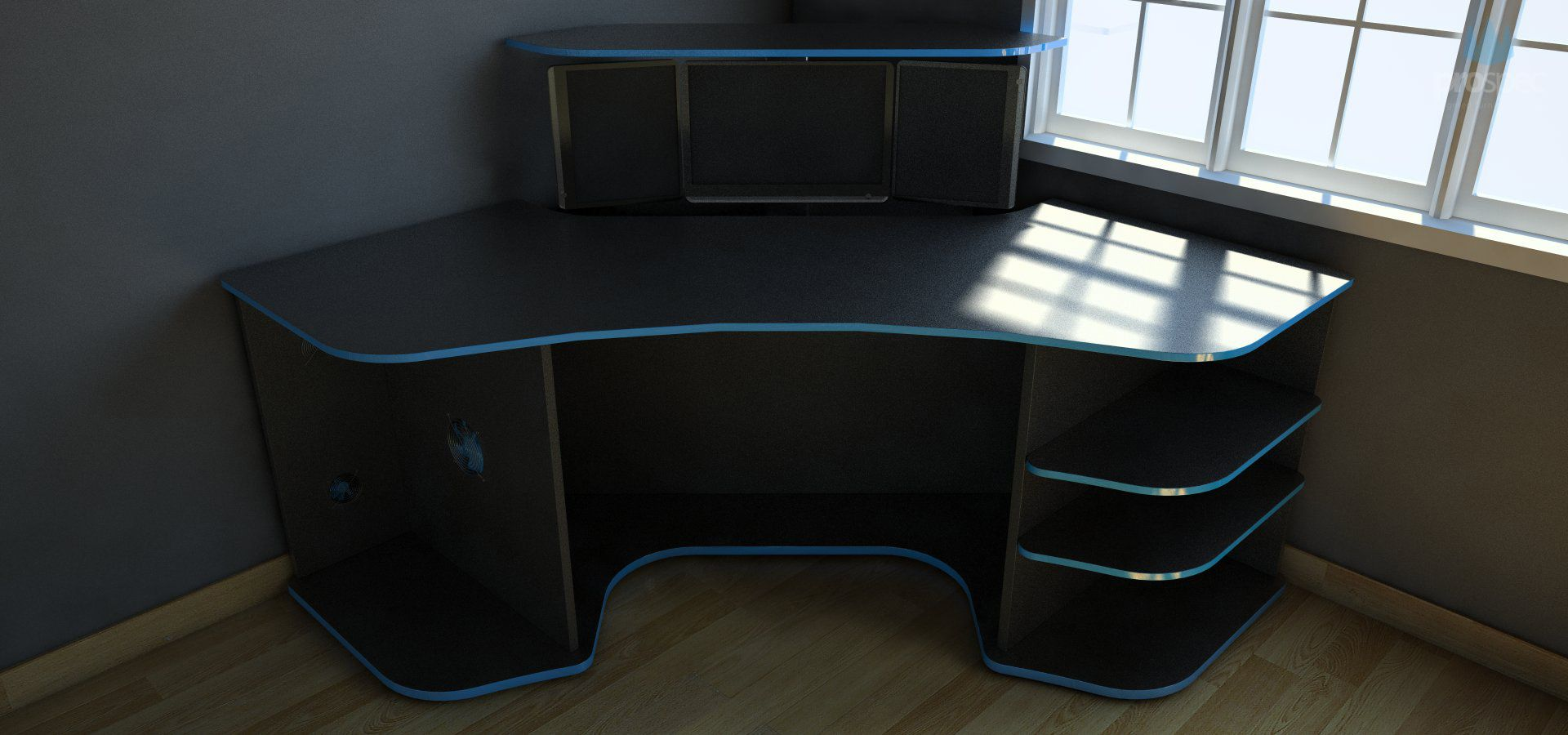 Behance :: R2s Gaming Desk by ProSpec Designs : drew : Pinterest