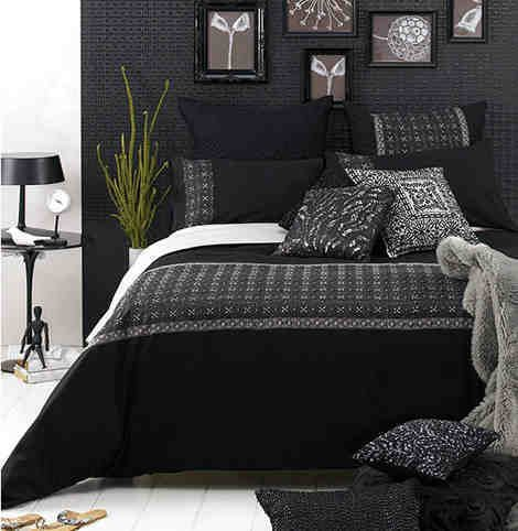 slaapkamer zwart bed, bed room black - Home || Good Night ...