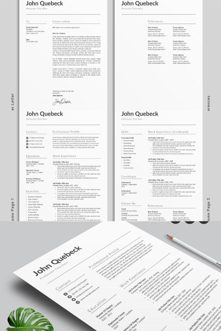Resume Template / CV in 2020 Resume words skills, Cover