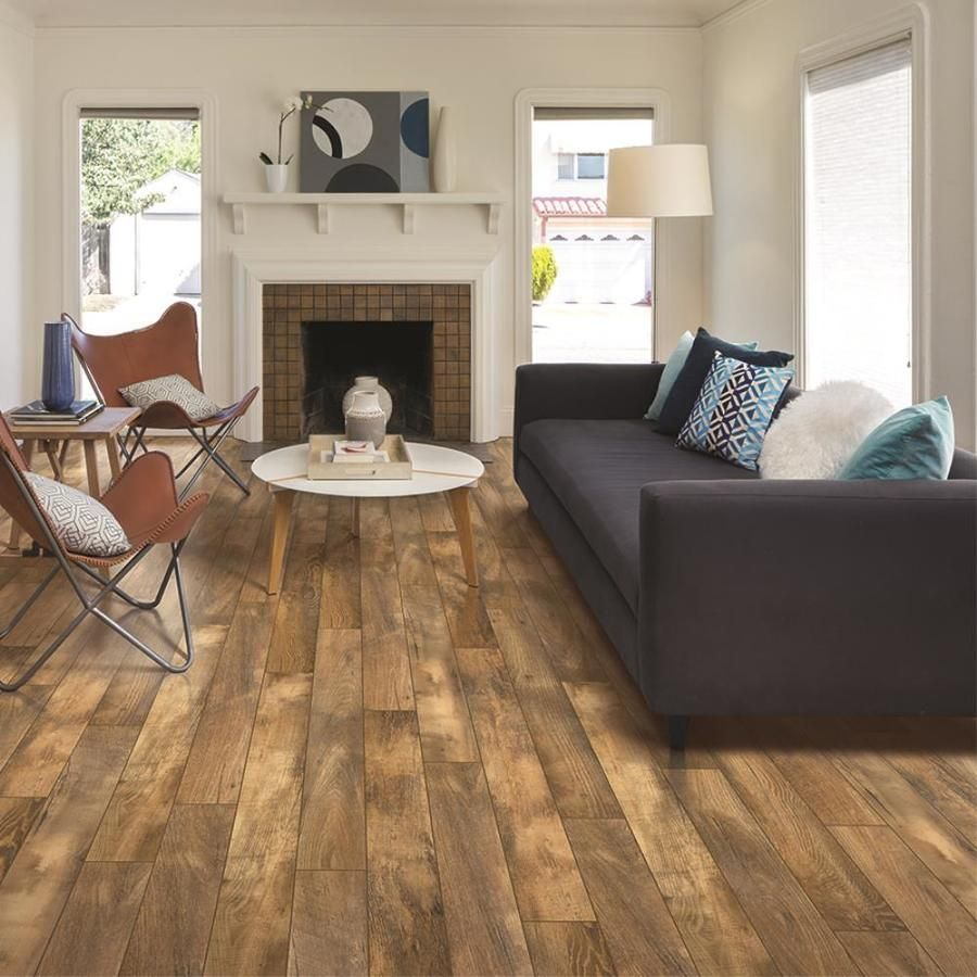 Allen Roth Harvest Mill Chestnut 5 23 In W X 3 93 Ft L Embossed Wood Plank Laminate Flooring Lowes Com Laminate Flooring Flooring Wood Planks