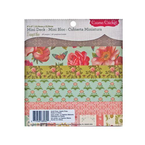 Cosmo Cricket - Evangeline Collection - Mini Deck - 6 x 6 Paper Pad at Scrapbook.com $5.99