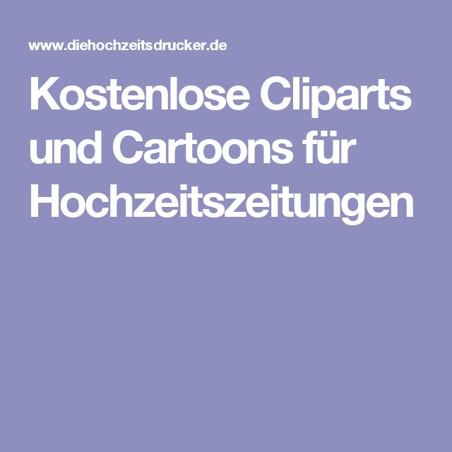 Kostenlose Cliparts Und Cartoons Für Hochzeitszeitungen