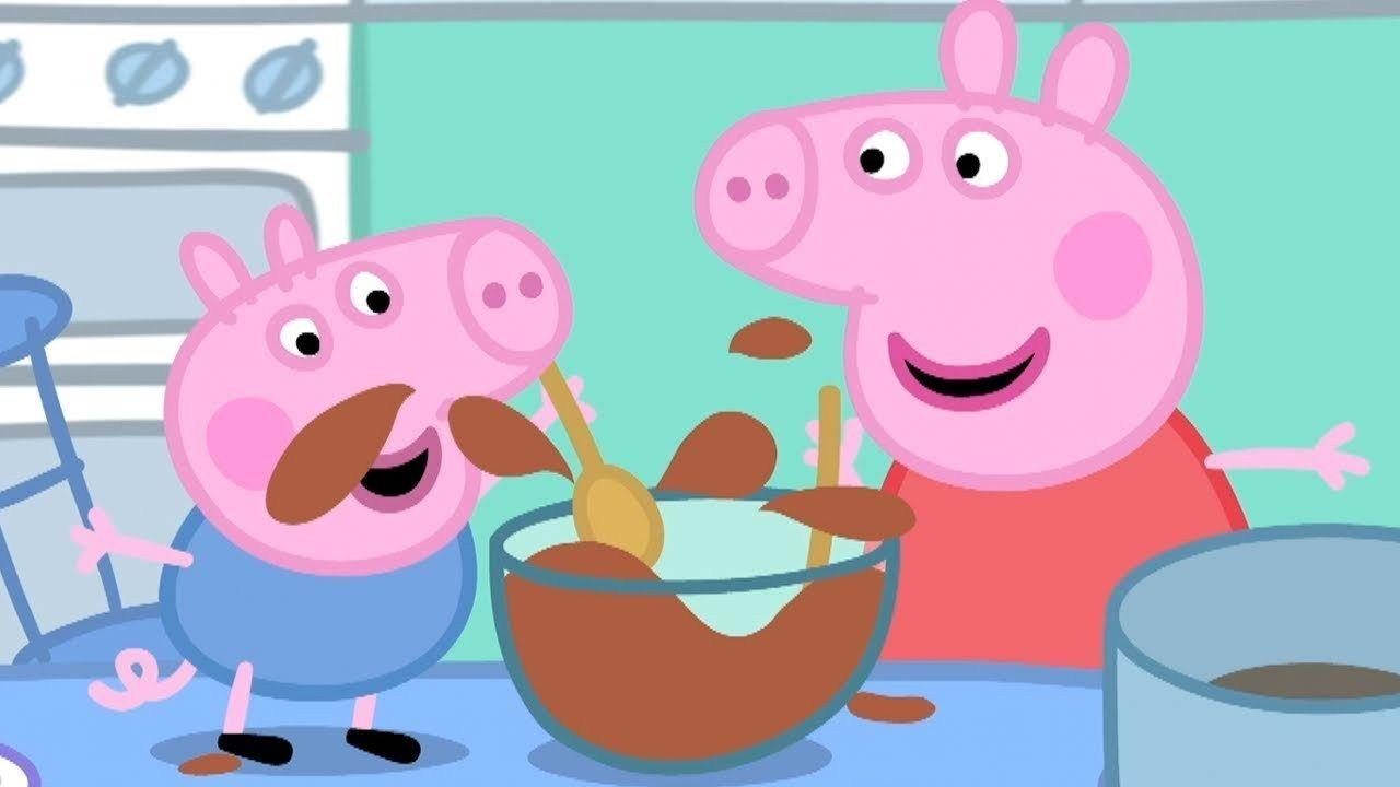 Peppa Wutz Kuchen Backen Mit Peppa Und Schorsch Peppa Pig Deutsch Cartoons Fur Kinder Peppa Pig Funny Peppa Pig Peppa