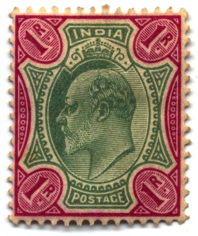 stamp india 1902 1r postage stamps and postal history of