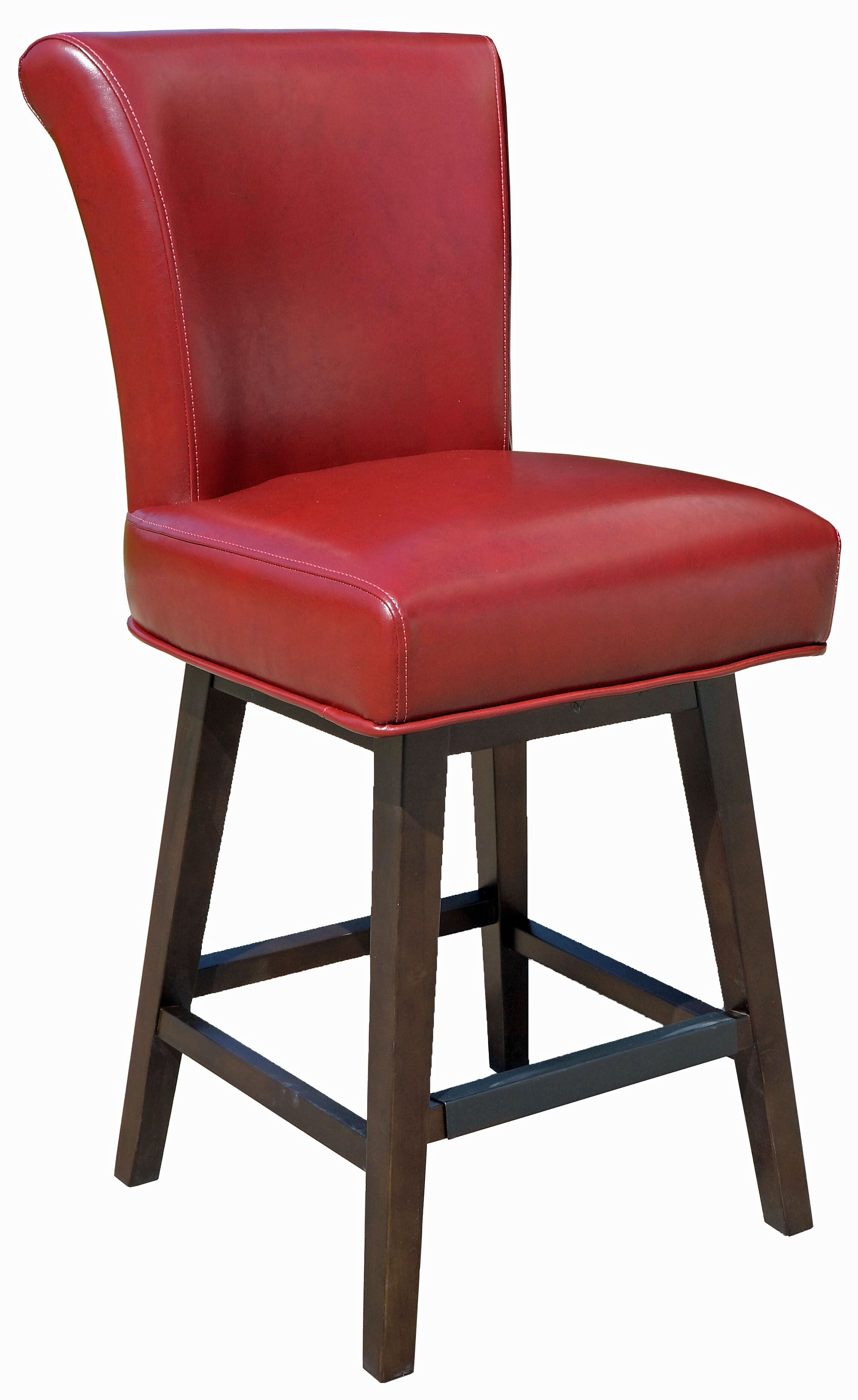 Restaurant High Chairs & Bistro Chairs Red RollBack Swivel