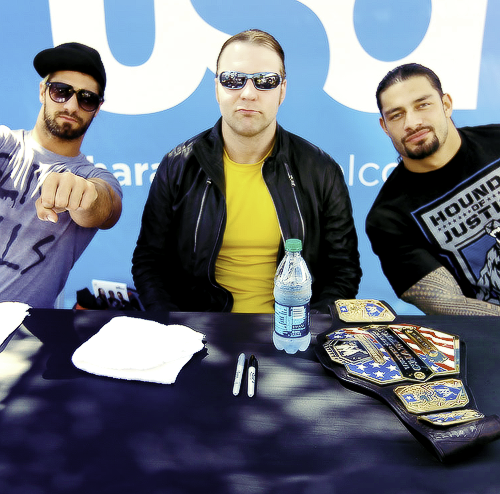 The Shield signing autographs