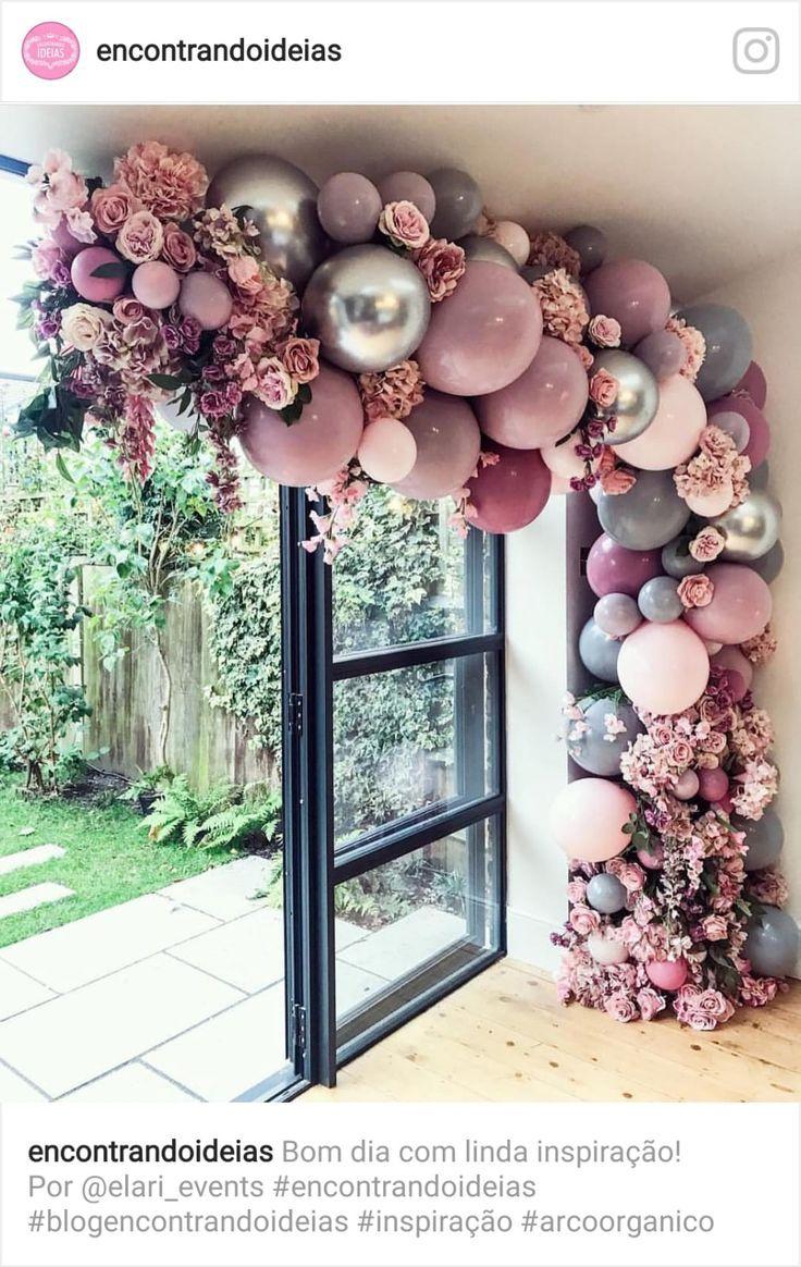Dekoration für die Hochzeit mit Ballongirlande is part of Wedding decorations -