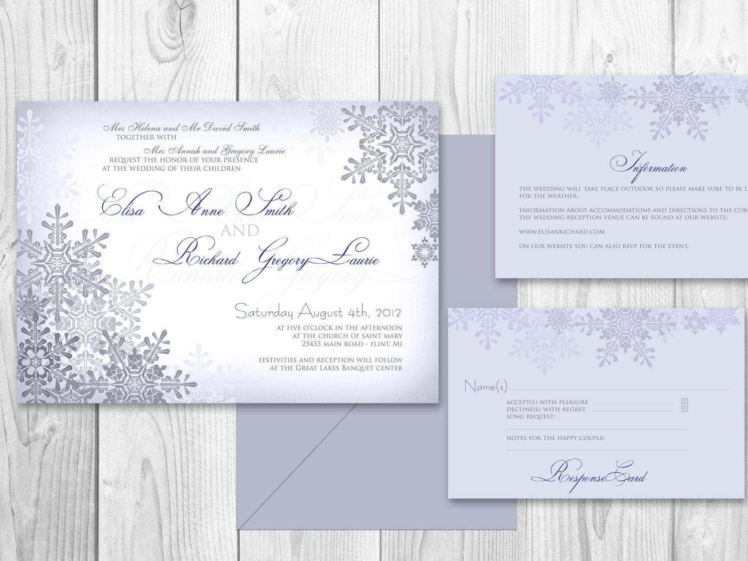 17 Best images about Winter Wedding Invitations on Pinterest ...