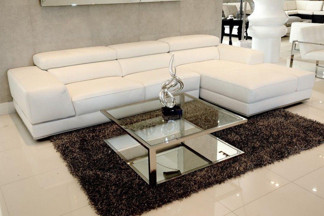 Excellent Bergamo Sectional Leather Modern Sofa White Modani Sofa Evergreenethics Interior Chair Design Evergreenethicsorg