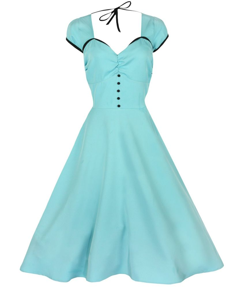 Beautiful vintage fifties inspired party dress. Short gathered cap ...