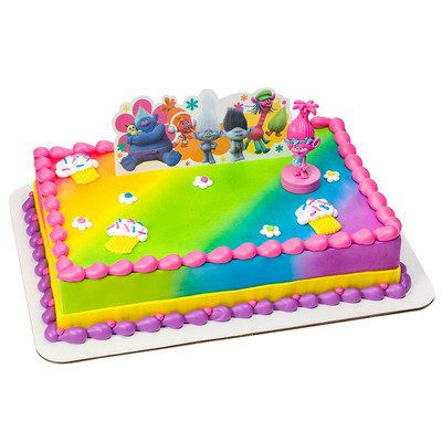 Trolls Birthday Cake Topper Poppy Troll Kit