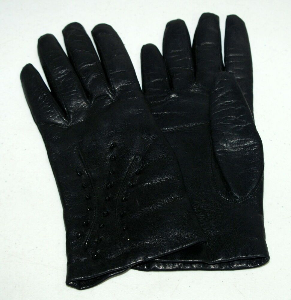 Women/'s Winter Warm Real Lambskin Leather Driving Soft Lining Cycling Gloves