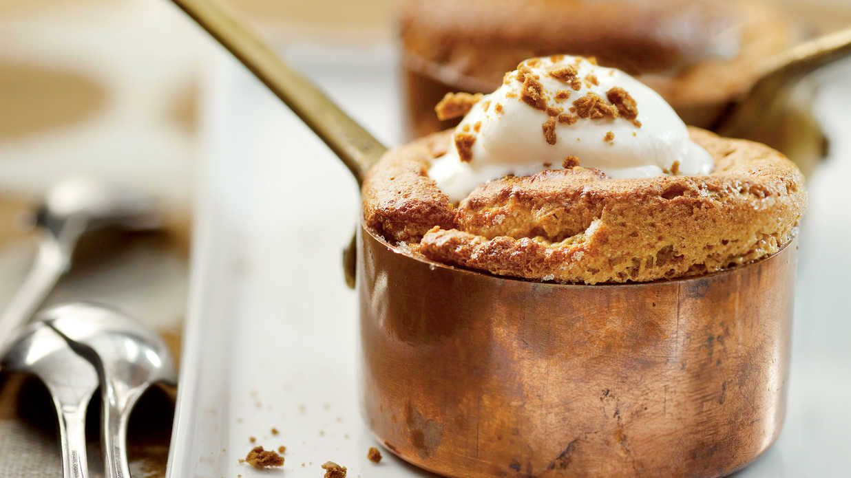 Rich, silky puddings and spoon breads are traditional dishes for the fall. This…