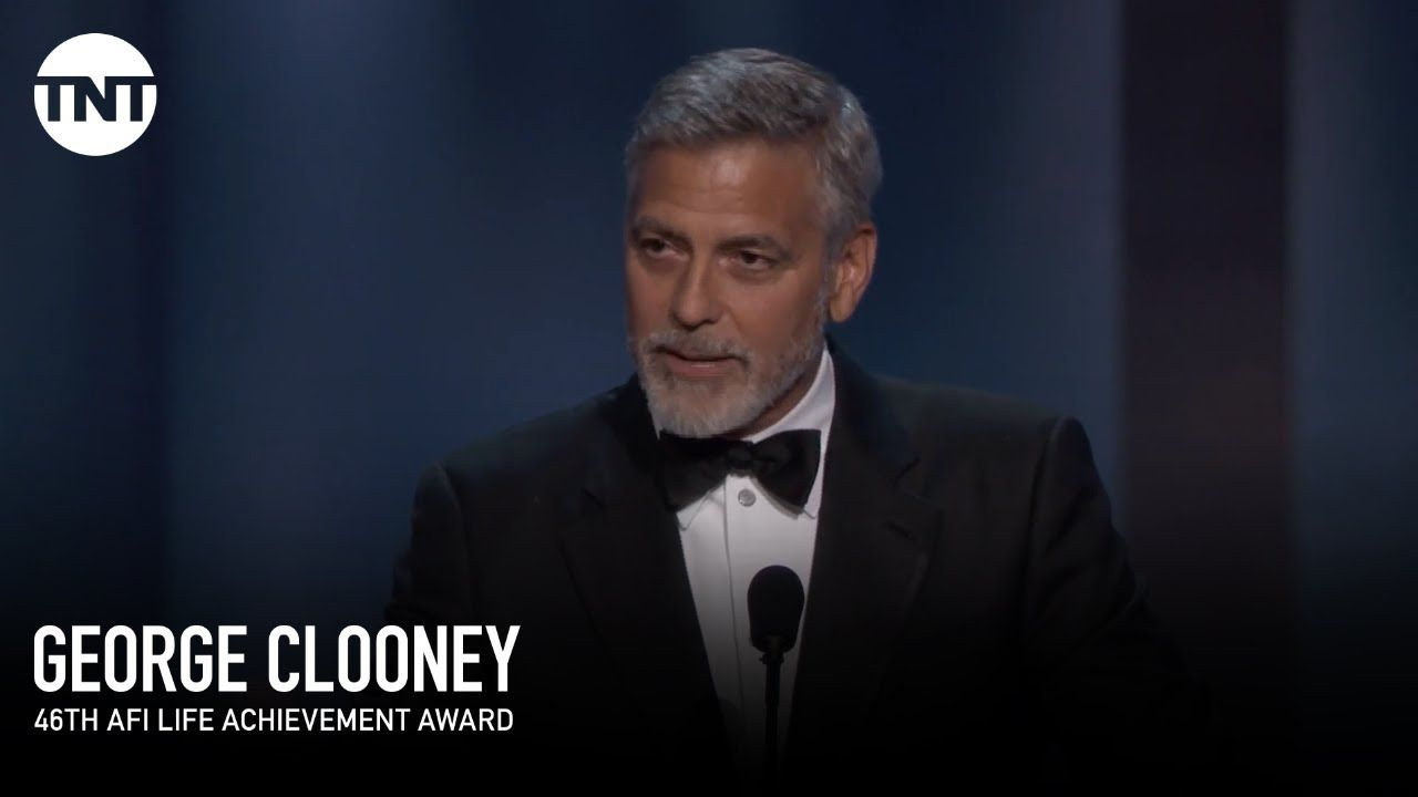 Clooney Accepts the AFI Life Achievement Award
