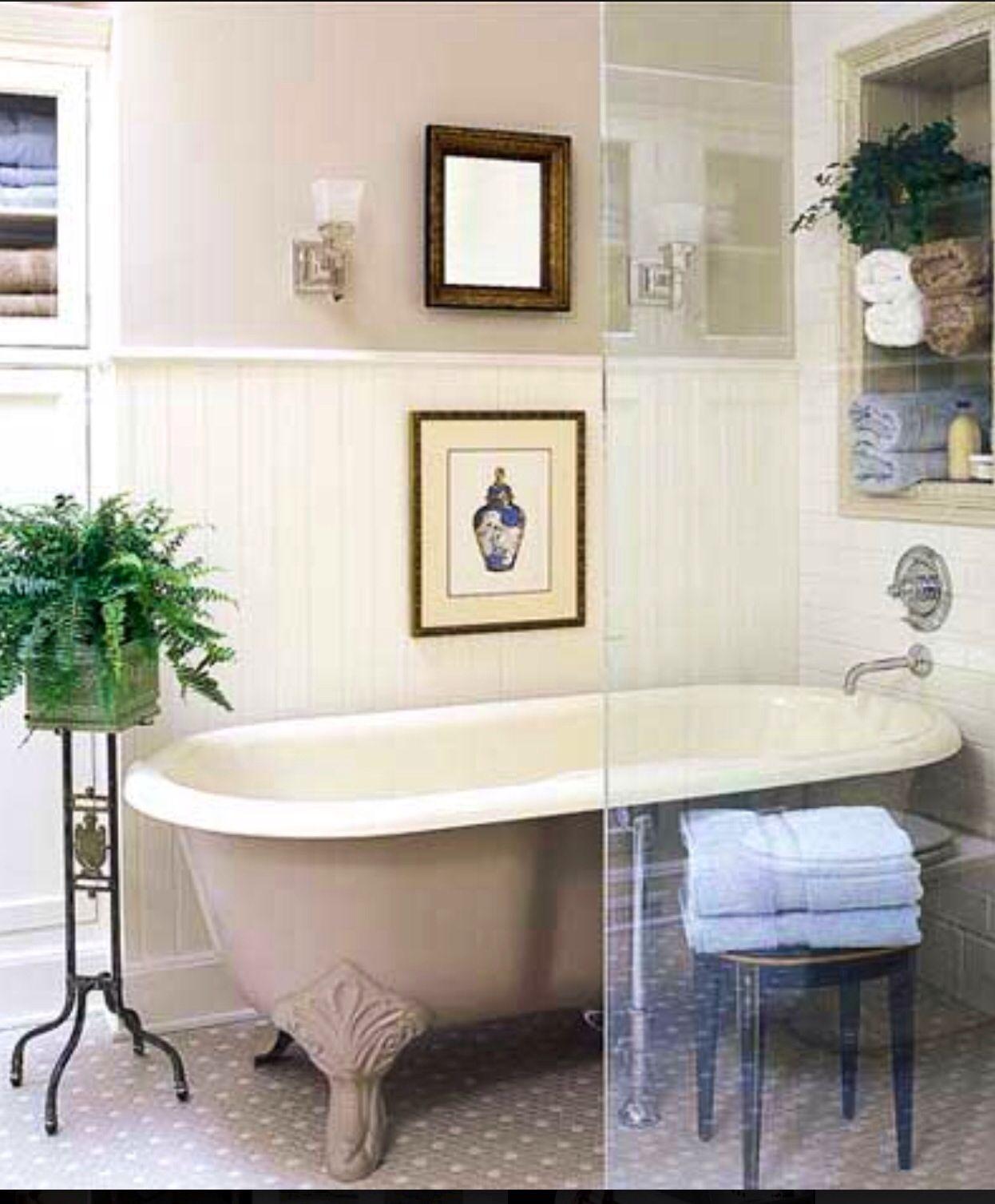Vintage bathroom interior vintage tub  cottageshabbyvintage  pinterest  vintage tub