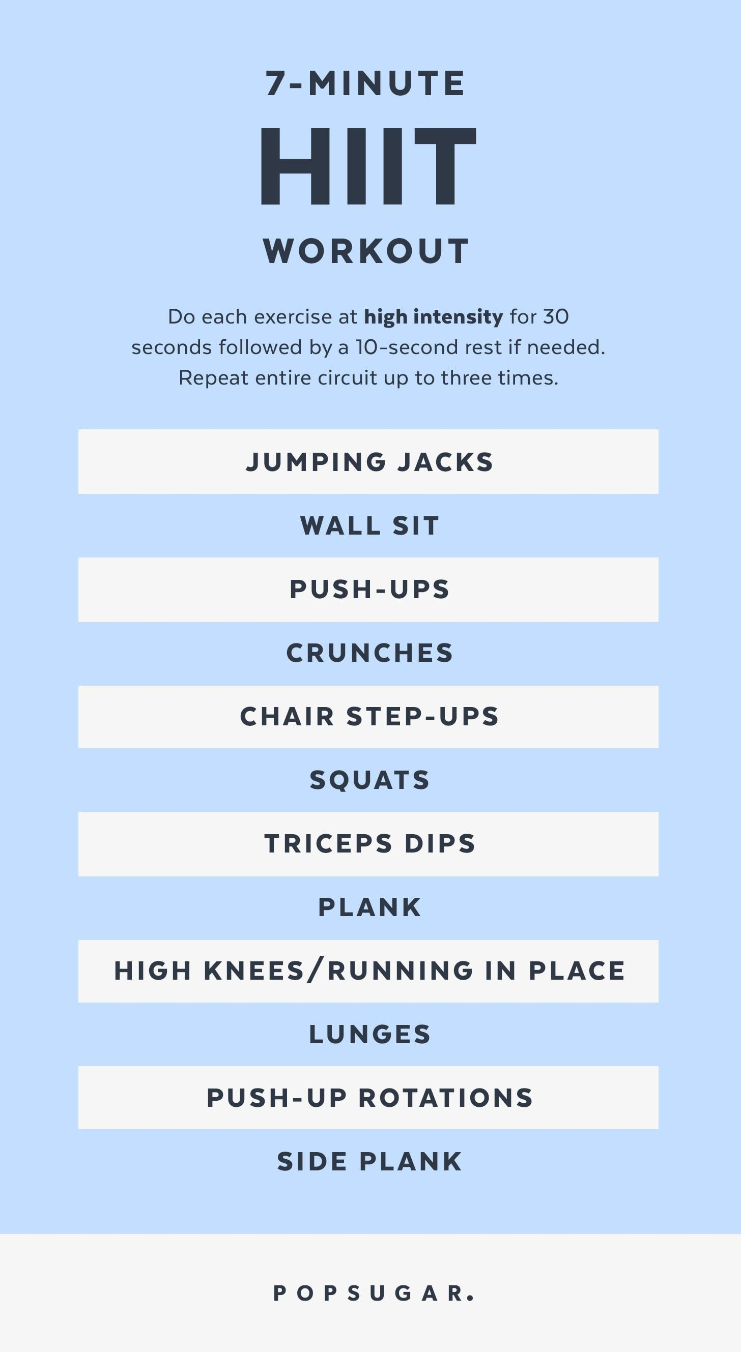 Burn Major Calories With This 7Minute HIIT Workout  Burn Major Calories With This 7Minute HIIT Workout