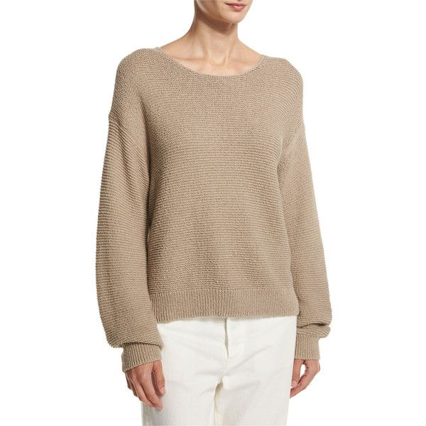 Vince Textured Cotton Pullover ($275) ❤ liked on Polyvore ...