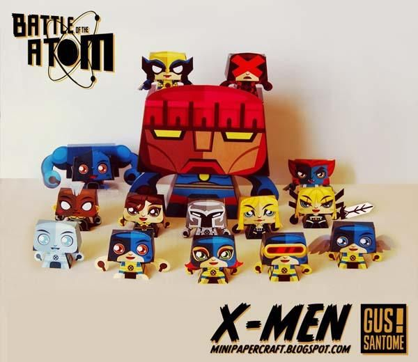 X Men Paper Craft Collection Gadgetsin Paper Crafts Comic Book Crafts Paper Toys