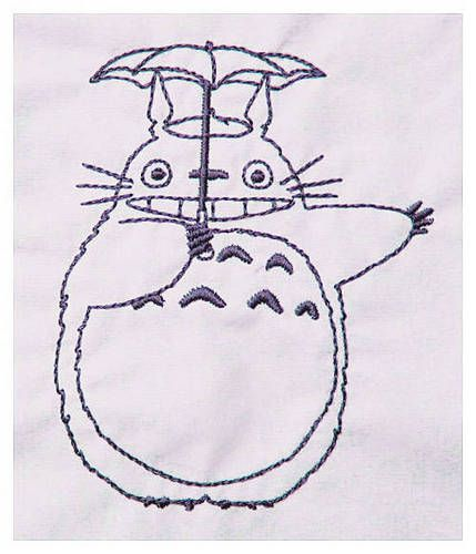free totoro embroidery design sewing in general - Neighbor Totoro Coloring Pages